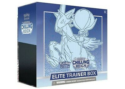 $37.99 • Buy Pokemon Sword And Shield Chilling Reign Ice Rider ETB Factory Sealed