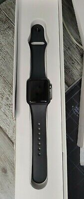 $ CDN89.38 • Buy Apple Watch Series 3 38mm A1858 GPS Space Gray With Black Sport Band **ICLOUD**