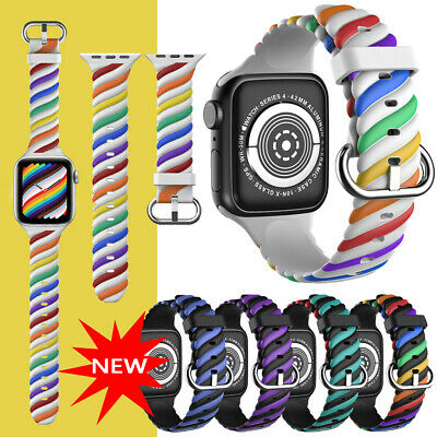 $ CDN8.70 • Buy For Apple Watch Series SE 6 5 4 3 2 1 40/44/38/42mm Wrist Strap Silicone Band