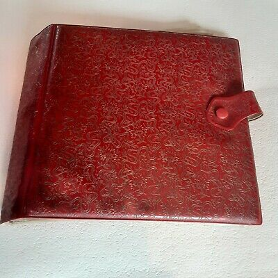 £11.95 • Buy Vintage 1950's / 60's  7   Single / EP Record Storage Case Wallet Red & Gold