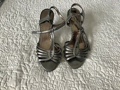£8 • Buy Graceland Shoes By Deichmann.   Size 5 (38)  Pewter Grey .Worn Once.