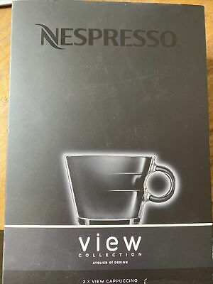 """£6.51 • Buy View- 2 X Nespresso """"Cappuccino"""" Cups & Saucers - Boxed"""