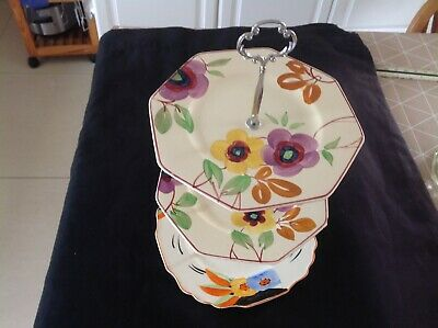 £12 • Buy Vintage Cake Stand, Hand Painted,good Condition, Good Makers
