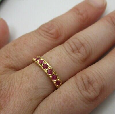 £45 • Buy A Fully Hallmarked 9ct Yellow Gold 'Pink Sapphire' Set Lady's Ring.