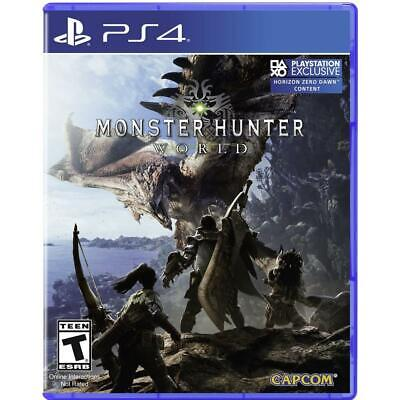 AU13.57 • Buy PS4 Playstation MONSTER HUNTER WORLD Mint No Scratches