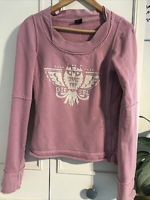 £4.50 • Buy Diesel Vintage Jumper Size M - Fitted With Flared Sleeves And Owl Emblem