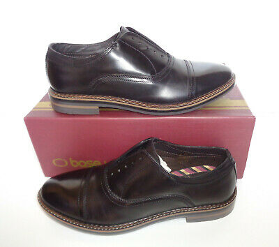 £26.98 • Buy Base London Mens Black Leather Casual Formal Shoes New RRP £75 UK Sizes 6 7 8