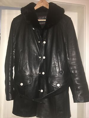 £150 • Buy Levis 'RED' Shawl Fur Collar Leather Coat, Small