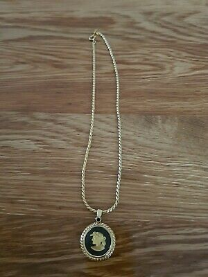 £14.80 • Buy Wedgwood Jasperware Black Necklace With Gold Coloured Chain