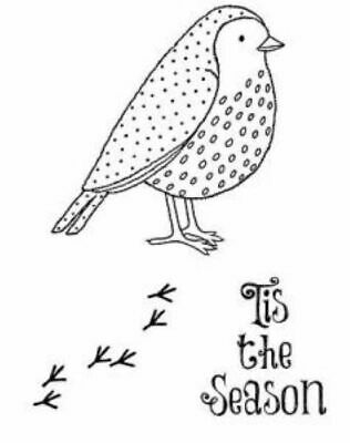 £0.99 • Buy Creative Expressions Robin Redbreast 3 Pre Cut Stamps