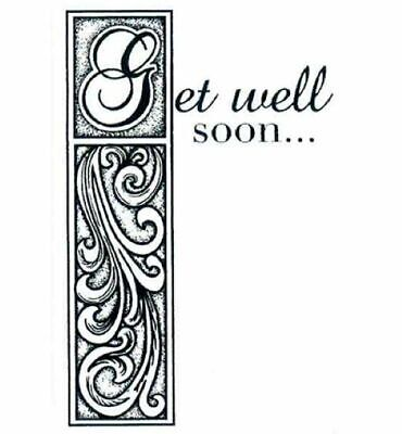 £0.99 • Buy Creative Expressions Get Well Soon Pre Cut Stamp