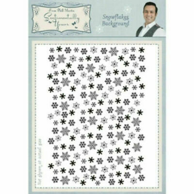 £1.20 • Buy Sentimentally Yours Snowflake Background A6 Stamp