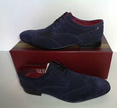 £27.98 • Buy Base London Mens Navy Leather Brogues Formal Shoes New RRP £75 UK Size 8
