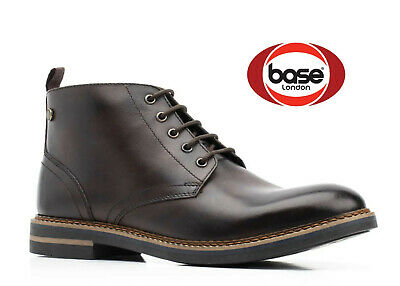 £28.98 • Buy Base London Mens Brown Leather Boots Lace Ankle Shoes New RRP £80 UK Size 6 7 8