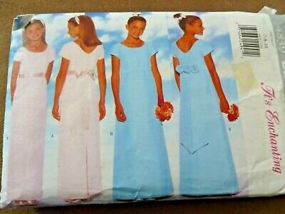 £0.99 • Buy Butterick Sewing Pattern Used Girls Bridesmaid/party Dress Size 7-8-10 Complete