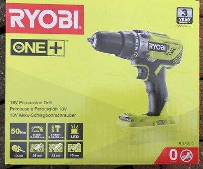 £59 • Buy Ryobi ONE+ 18v Cordless Power Tool - R18PD3-0 Combi Drill Bare Tool - Body Only