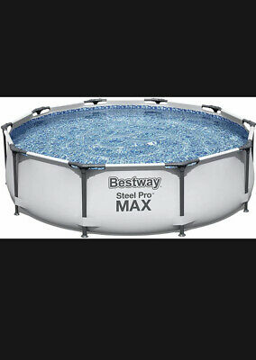 £189 • Buy Bestway 10ft Steel Pro Max Above Ground Swimming Pool ✅ Filter Pump✅Fast Postage