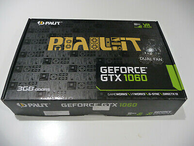 $ CDN295.06 • Buy PALIT GEFORCE GTX 1060 3GB DUAL FAN. Boxed, In Excellent Condition.