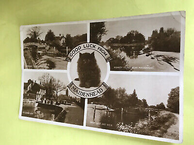 £1.20 • Buy Good Luck From Maidenhead.  Berkshire.  1954 Posted Multiview Postcard