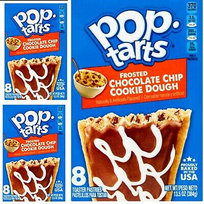 £18.99 • Buy 24 X Kellogg's Pop Tarts Frosted Chocolate Chip Cookie Dough