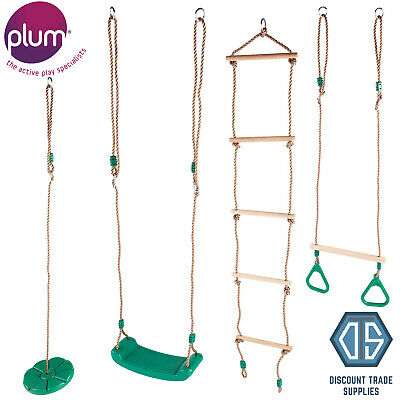 £19.99 • Buy Plum Play Outdoor Swing Accessories Trapeze, Rope Ladder, Monkey Swing Seat