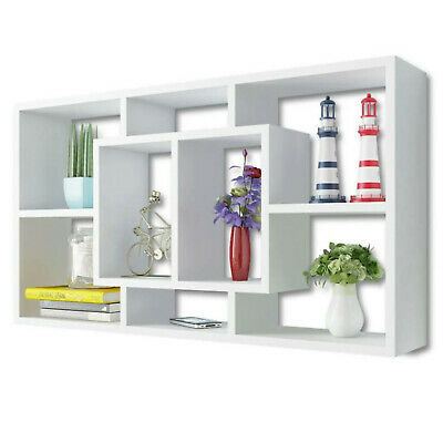 £44.99 • Buy Stylish Display Shelf With 8 Compartments Wall Mounted Invisible Mounting System
