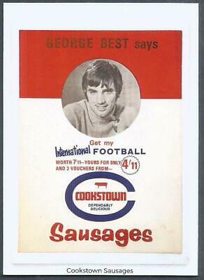 £4.99 • Buy Bestie75-limited Edition Trade Card-#29-george Best Says-cookstown Sausages
