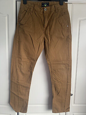 £7 • Buy Next, Age 13, Smart Chino/Jeans, Tan Camel Colour, Adjustable Waist, Belt Loops