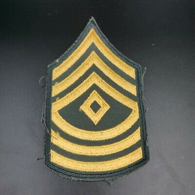 £1.42 • Buy US Army First Sergeant Rank Insignia Patch
