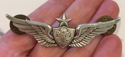 $30 • Buy Big Vintage Usa Military Sterling Silver Pin With Eagle Star And Wings