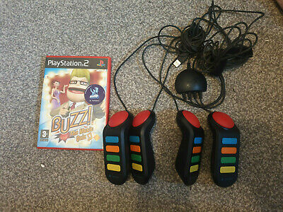 £10.99 • Buy Playstation 2 Buzz Controllers X4 And Buzz The Music Quiz - Tested