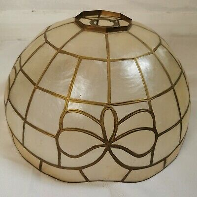 £20 • Buy Vintage Mother Of Pearl Capiz Shell Ceiling Lightshade