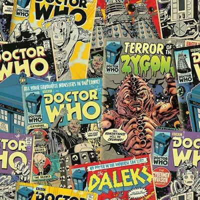 £12.99 • Buy Doctor Who Retro Comic Book Wallpaper Roll BBC Licensed Product By DreamTex