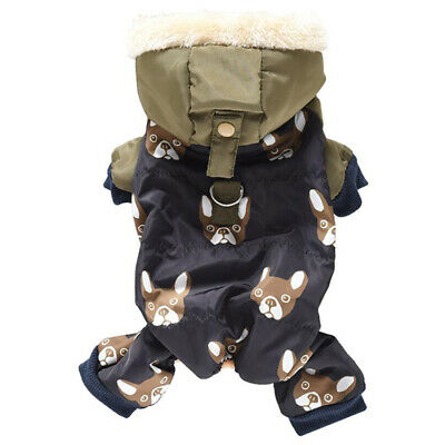 £9.09 • Buy Pet Supplies Jacket Coat Pet Dog Clothes Outfits Hooded Warm Cotton Thicken LA