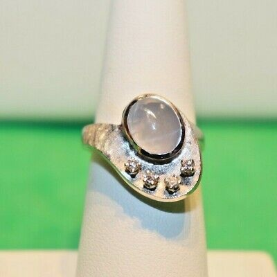 AU404.05 • Buy 14k Star Sapphire And Diamond Ring 6 Grams Size 7