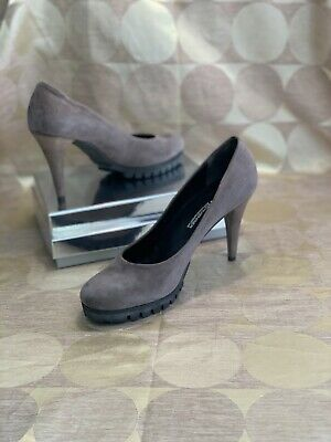 £59.99 • Buy Kennel & Schmenger Size 7 Brown Mink Taupe Suede Leather Court Shoe Heel £149!