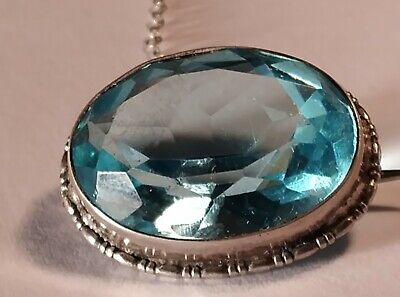 £8.50 • Buy  Superb Antique Victorian Solid Silver And Large Topaz Brooch.