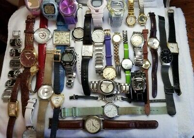 $ CDN75.54 • Buy WATCH LOT 36  Men's & Women's Seiko Timex -Fossil Invicta Movado & More AS IS