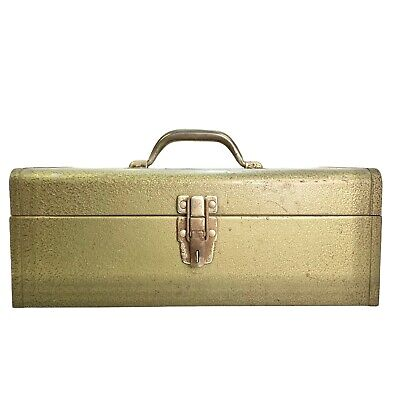 $49 • Buy Vintage Park Olive Green Metal Tool Box Machinist Chest Model 83333