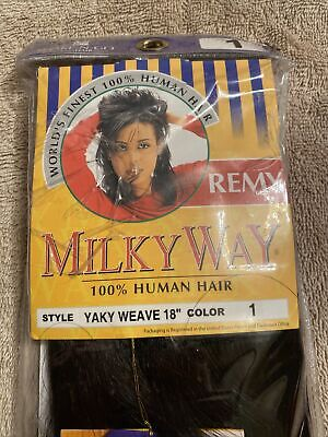 $11.99 • Buy Remy MilkyWay Yaky Weave 100% Human Hair #1 -