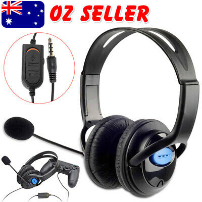 AU14.95 • Buy Wired Headphone With Microphone Volume Gaming Headset For Sony PS4 PlayStation 4