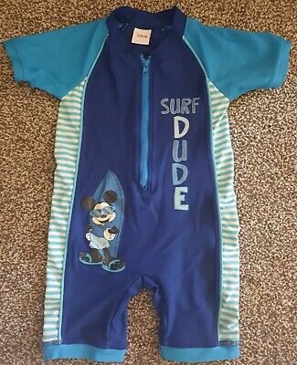 £1.50 • Buy Boys 2-3 Years Mickey Mouse All In One Swimsuit