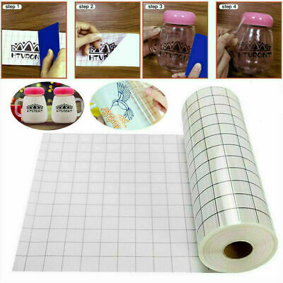 £5.59 • Buy Vinyl Transfer Paper Tape Roll Cricut Adhesive Clear Alignment Grid Sticker New