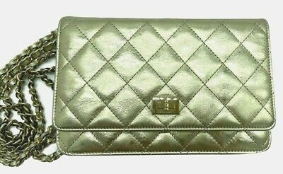 £2149 • Buy Chanel Reissue Wallet On Chain Cross Body Clutch Bag Gold Leather