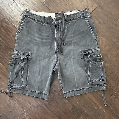 $74.97 • Buy Abercrombie & Fitch Heavy Weight Faded Cargo Shorts Men's Size 34 Vtg Fatigues