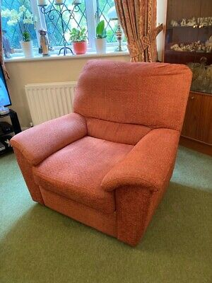 £5 • Buy Marks & Spencer X 2 Arm Chairs Reclining- Red Mixed Colours