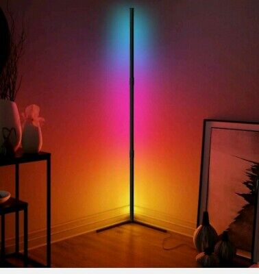 £22 • Buy RGB Colour Changing LED Corner Floor Lamp Standing Lighting Dimmable W/ Remote