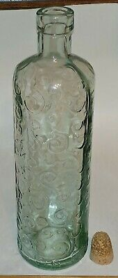 $30 • Buy Mid 1800's Glass Bottle, Embossed Swirl Design – Blown Mold, Round Snap Tool.