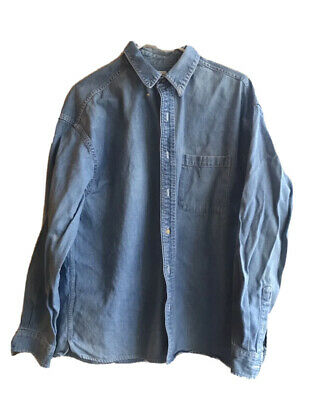 $24 • Buy Mens Vintage INC Chambray Button Up