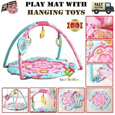 £19.95 • Buy Baby Gym Fun Activity Kids Play Mat With Detachable Hanging Toys Floor Playmat